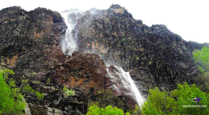 تصویر آبشار زیبای برنجه استان لرستان